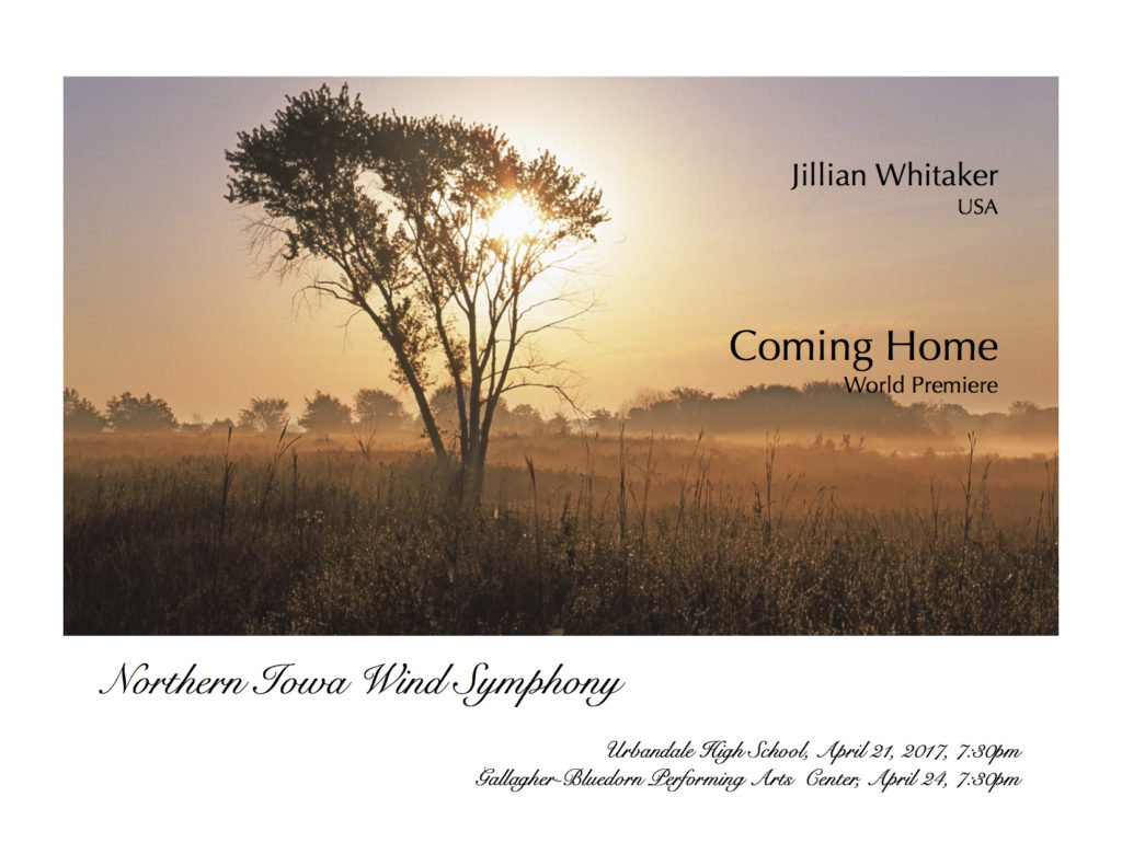 Coming Home premiere performance poster