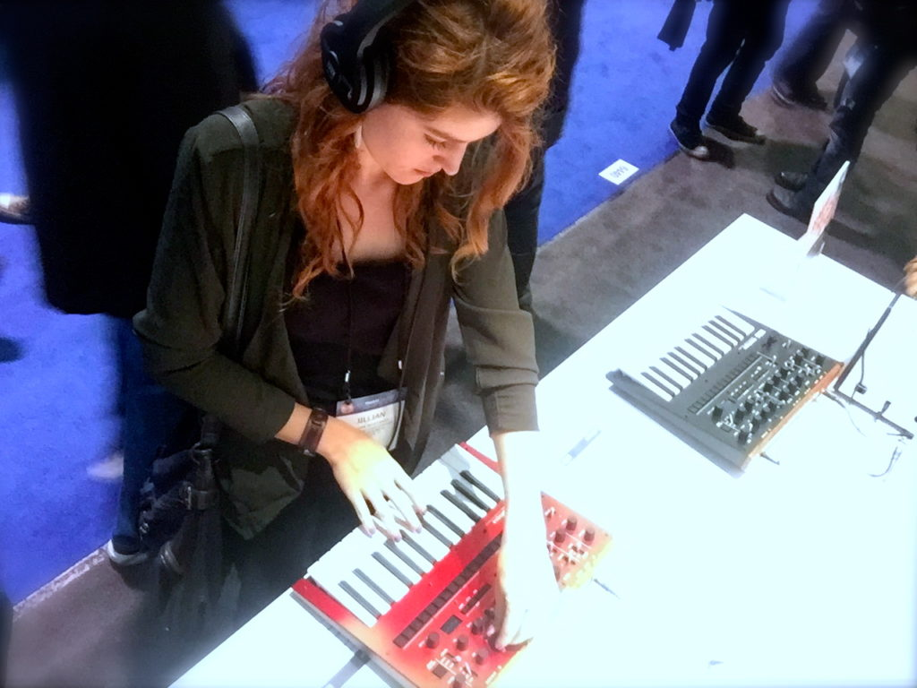 Playing with synths at NAMM